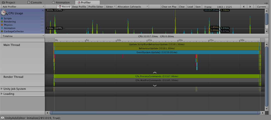 Lag on script or other ? Profiler     - Unity Forum
